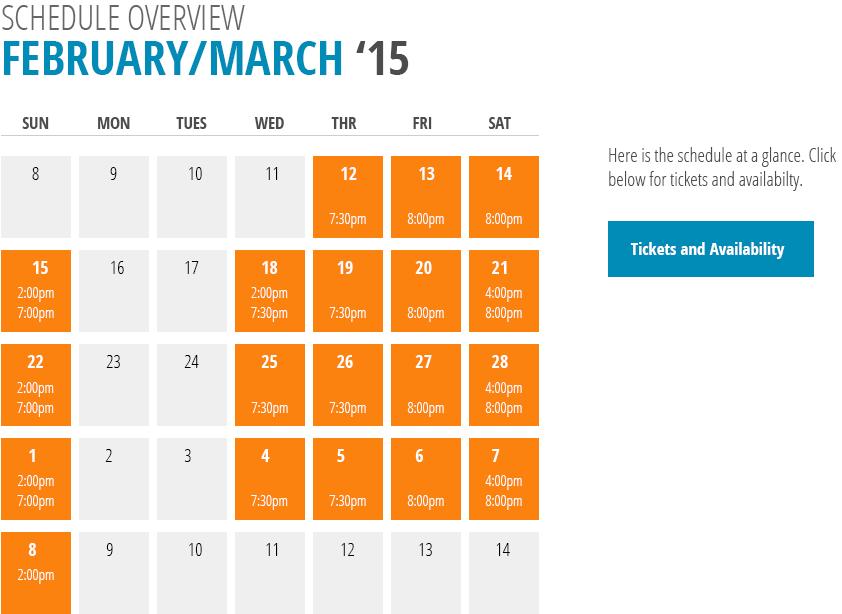 Oceanside performance schedule