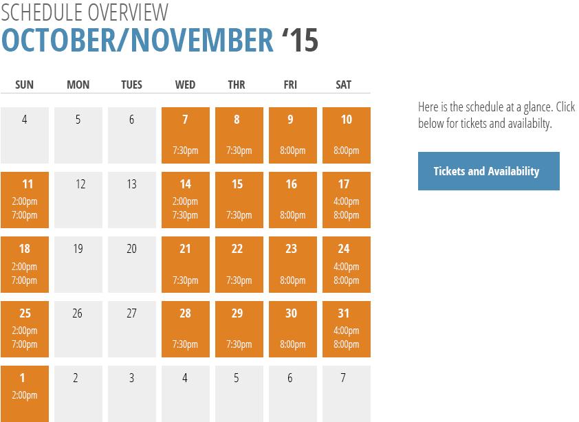 I and You performance calendar