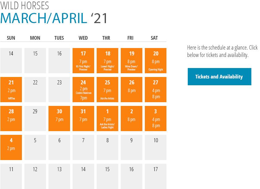 Wild Horses Calendar