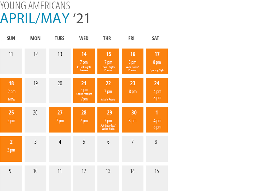 Young Americans Calendar